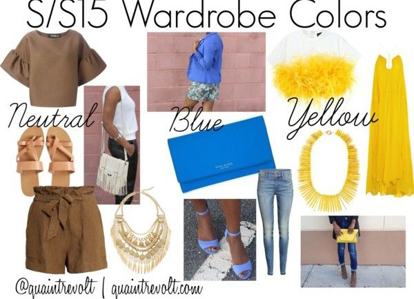 Colors for SS15 Wardrobe